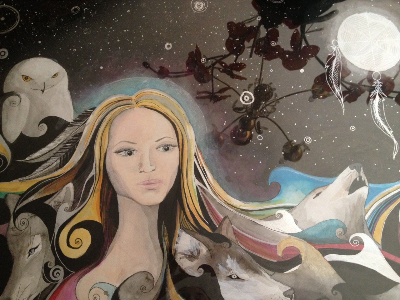"""""""Wolfdreamer"""" painted by Veronica Reichelt"""