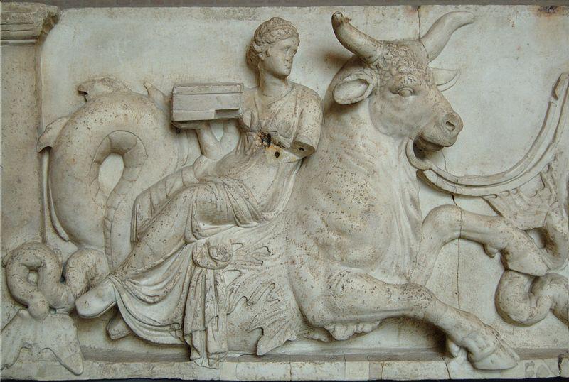 Nereid riding a sea-bull (latter 2nd century BC)