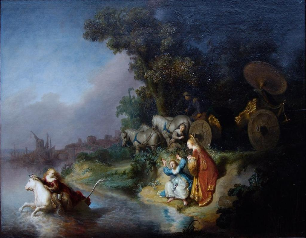 The abduction of Europa, Rembrandt (1606-1669)