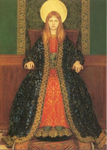 The Child Enthroned by Thomas Gotsch 1894