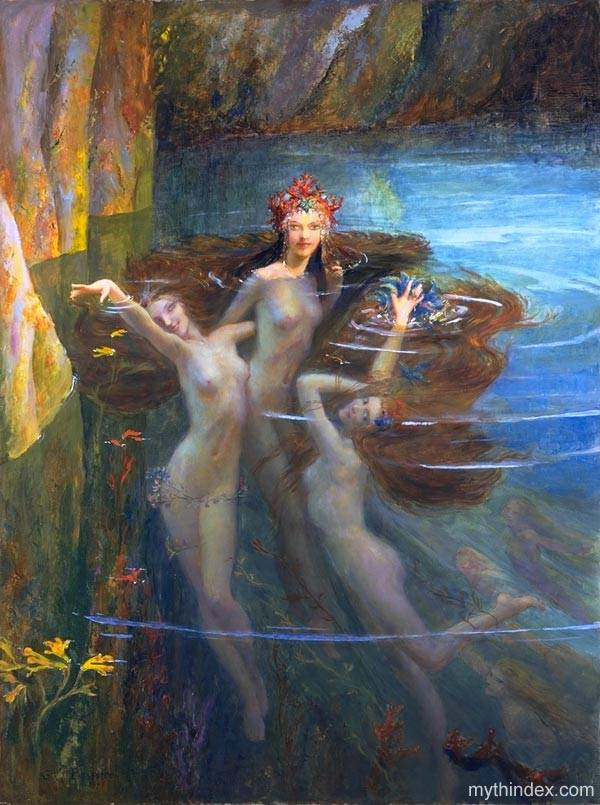 The Nereids, by Gaston Bussiere (1862-1929)