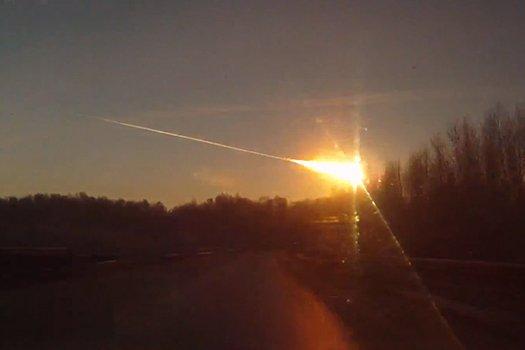 Meteorite lands in Russia 2/15/13