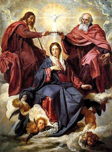 The Crowning of the Virgin by the Trinity. Velázquez, 1645