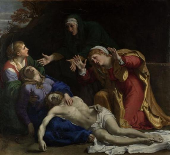 ' The Dead Christ Mourned - the Three Maries', Annibale Carracci, 1603