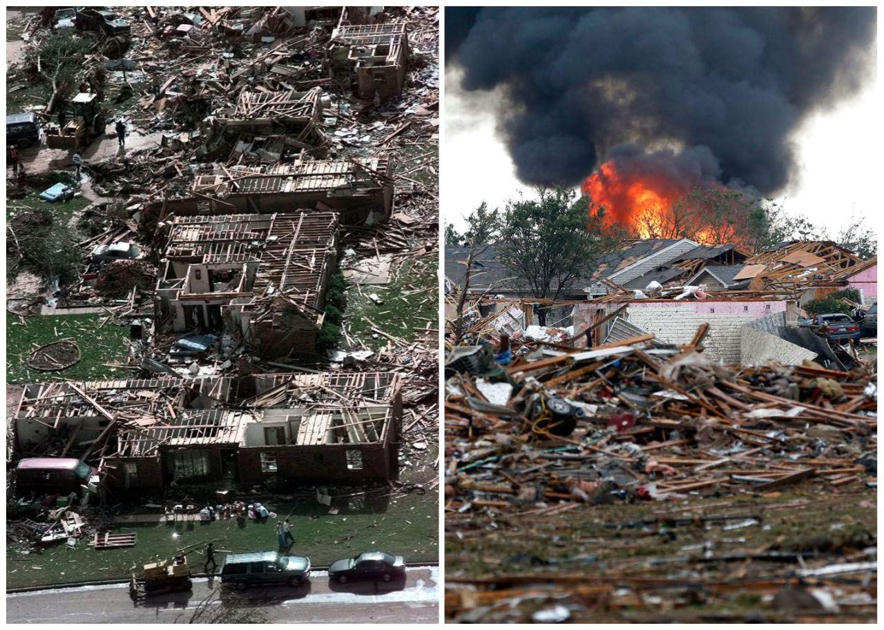 The tornadoes of Oklahoma 2013 followed the same path thru as back in 1999. http://news.yahoo.com/oklahoma-twister-tracked-path-1999-tornado-232609115.html