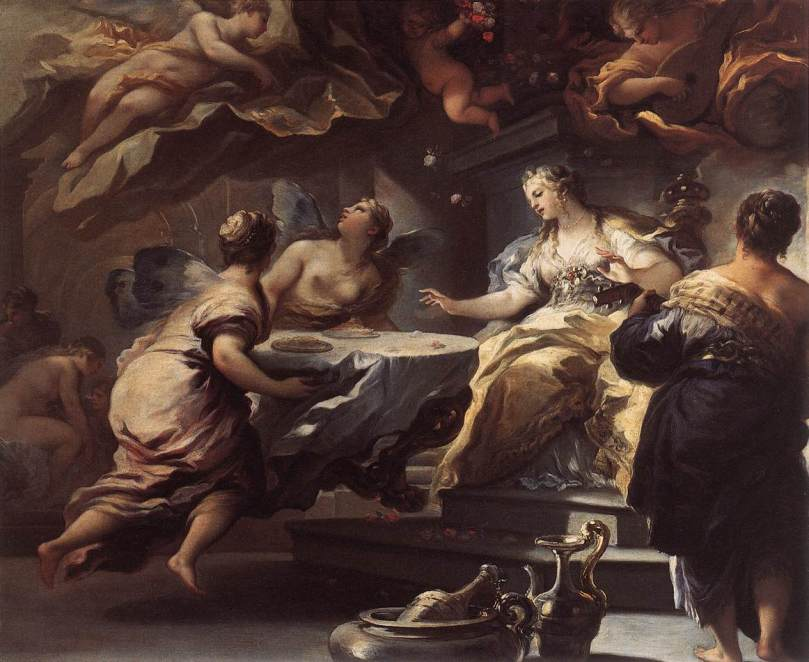 Luca Giordano - Psyche Served by Invisible Spirits 1692-1702