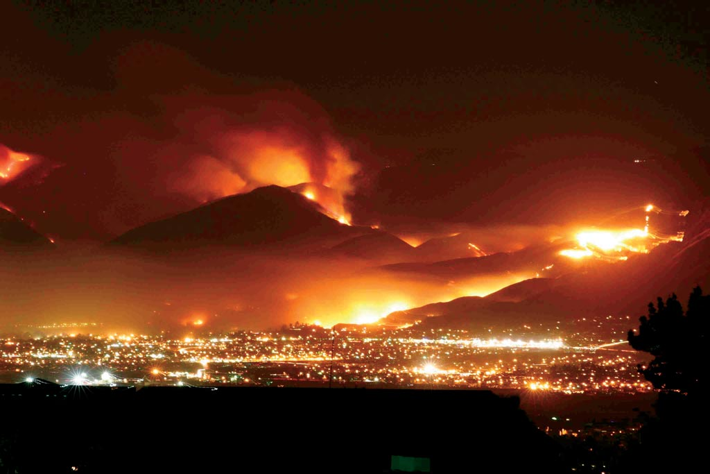 Wild fires, CA