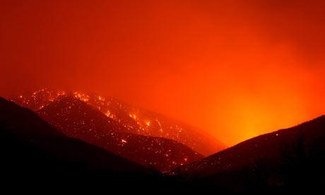 Wild fires surround LA, 5/13