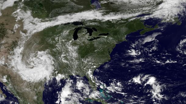 Rare weather anomaly in the NE creates rains in New Mexico