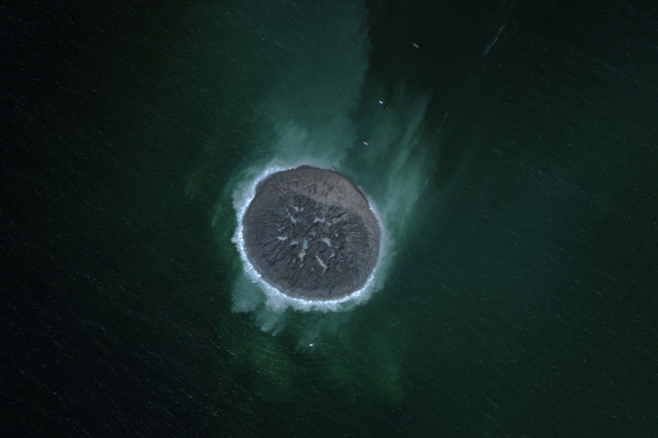 This island was created off the coast of Gwadar when Pakistan was hit by a 7.8-magnitude earthquake on Sept. 24, 2013. Imagery collected on Sept. 26, 2013. Read more: http://world.time.com/2013/09/27/a-birds-eye-view-of-earths-newest-island/#ixzz2g8lnsLdo