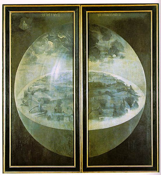 Creation on the exterior shutters of Hieronymus Bosch's triptych The Garden of Earthly Delights (1480–90)