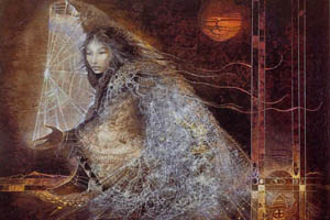 Tse Che Nako, Thought-Woman, the Spider, is sitting in her room thinking of a story now - I'm telling you the story she is thinking. ~ Keresan Pueblo myth