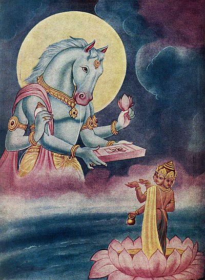 Hayagreeva giving back Vedas to Brahma http://booksfact.com/mysteries/puerta-de-hayu-marca-doorway-hayagreeva-vishnu-purana.html