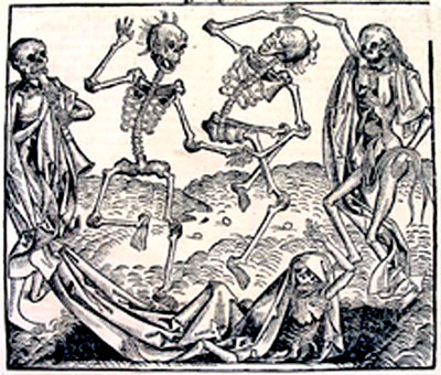 The Dance of Death is an allegory on the universality of death and a common painting motif in late medieval period.