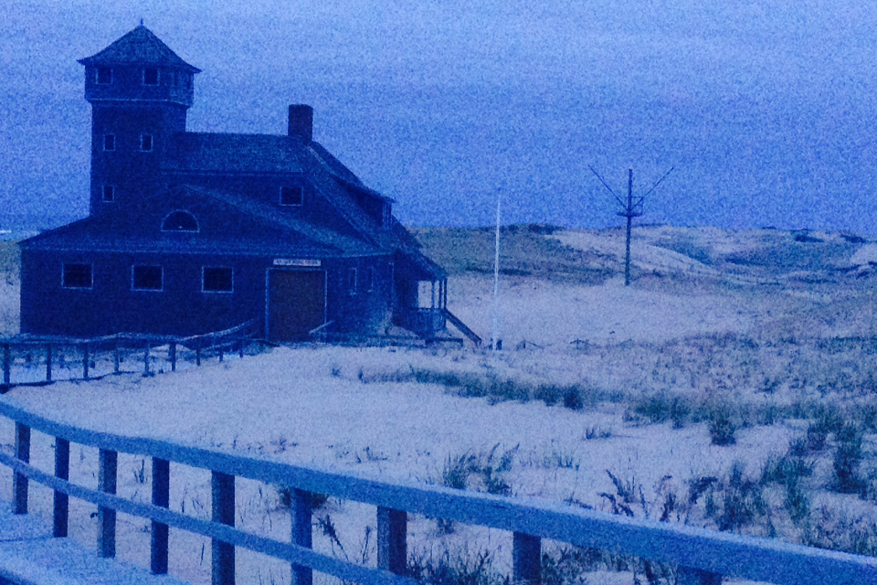 Blue house in a blue dream with a symbol. photo by Hillary Raimo 4/28/14