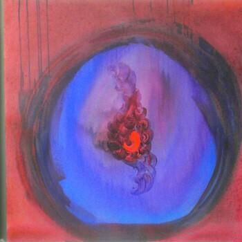 """April Blood Moon Portal"" painting by Hillary Raimo. 2014 Acrylic"
